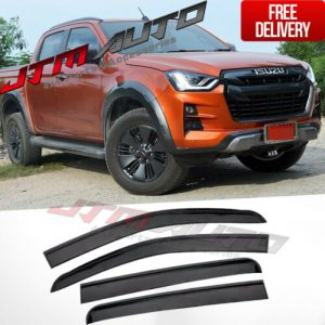 Injection Weathershields Weather Shields to suit Isuzu D-max Dmax 2020+ MY21