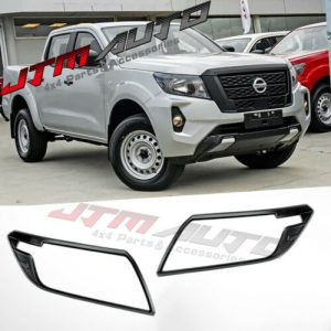 MATT Black Head Light Cover Trim to suit Nissan Navara NP300 D23 SL 2021+