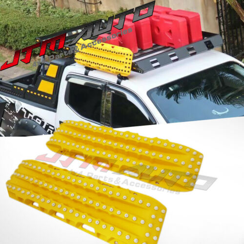 2PC Recovery Tracks 10T Sand Tracks Mud Snow Grass Accessory 4WD Yellow Colour