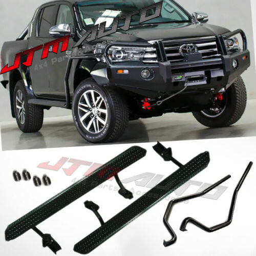 Powder Coating Heavy Duty Side Steps & Brush Bars to suit Toyota Hilux N80 2015+