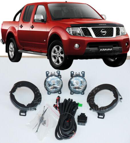 Driving/ Fog Lights Lamps Complete Kit to suit Nissan Navara D40 2005-2014
