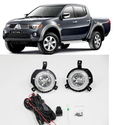 Driving/ Fog Lights Lamps Complete Kit Suits Mitsubishi Triton 2006-2008