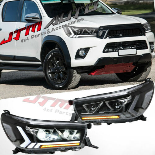 Full LED Sequential Headlight Running Lights To suit Toyota Hilux 2015-2020