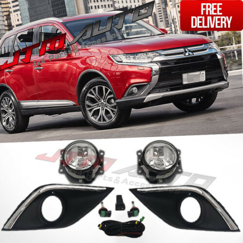 Driving/Fog Lights Lamps Complete Kit to suit Mitsubishi Outlander 2015-2020
