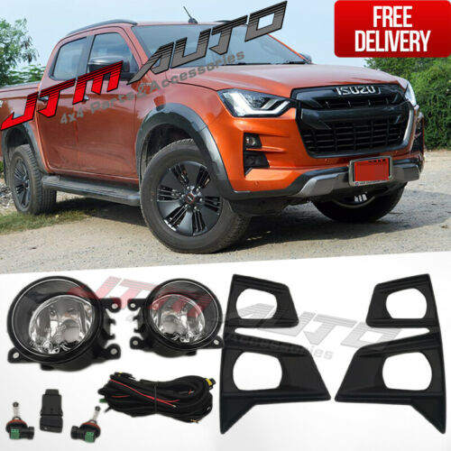 Driving/Fog Lights Lamps Complete Kit to suit Isuzu D-max Dmax RG 2020+