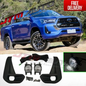 LED White Color Driving/Fog Lights Lamps Complete Kit to suit Toyota Hilux 2020+
