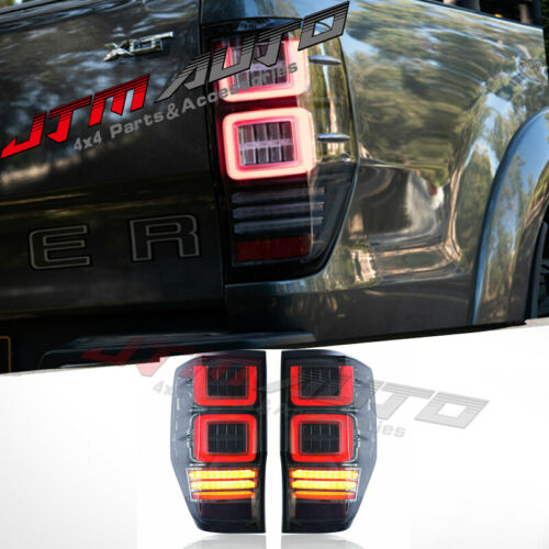 Smoked Full Sequential Led Tail Lights to suit Ford Ranger PX PX2 PX3 2012-2021