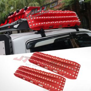 2PC Recovery Tracks 10T Sand Tracks Mud Snow Grass Accessory 4WD In Red Colour