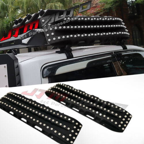 2PC Recovery Tracks 10T Sand Tracks Mud Snow Grass Accessory 4WD Black Colour