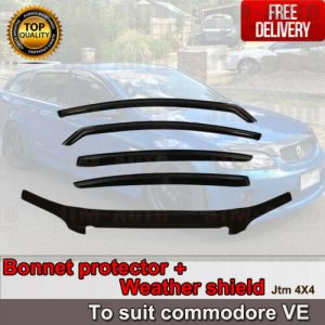 Bonnet Protector Guard + Weather Shields Visor to suit Holden Commodore VE 06-13
