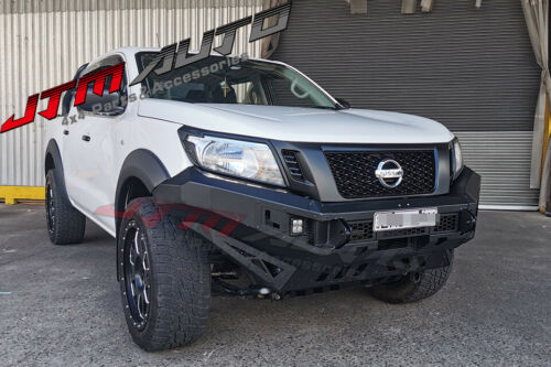 Heavy Duty Deluxe Bull bar Winch compatible to suit Nissan Navara Np300 15-20