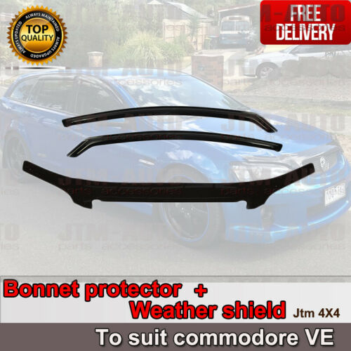 Bonnet Protector Guard + Weather Shields to suit Holden Commodore VE 06-13