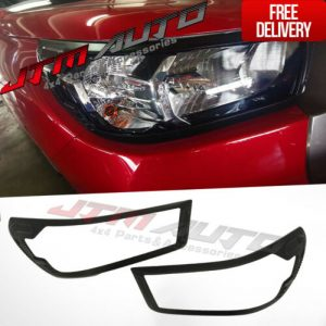Black Head Light Cover Trim to suit Toyota Hilux SR 2020 My21+