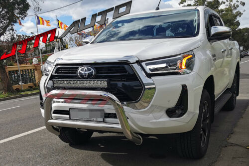 """Nudge Bar 3"""" Stainless Steel Grille Guard to suit Toyota Hilux N80 2020+"""