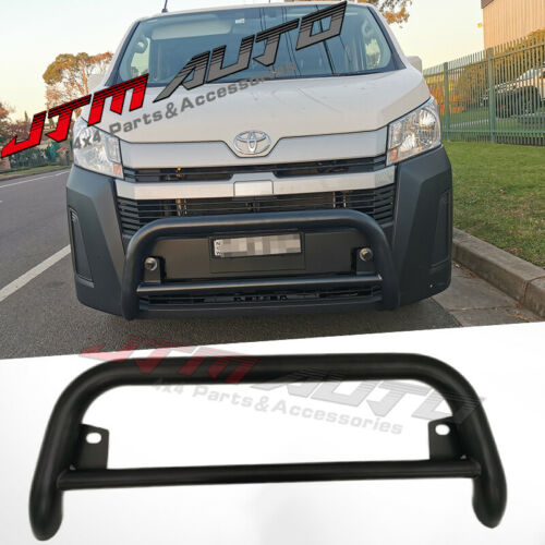 """Nudge Bar 3"""" Black Steel Grille Guard to suit Toyota Hiace LWB 2019+"""