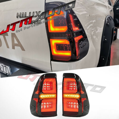 Smoked Full Sequential Led Tail Lights to suit Toyota Hilux N80 2015-2021