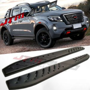 Heavy Duty Shark Bar Black Off road Side Steps to suit Nissan Navara NP300 2014+