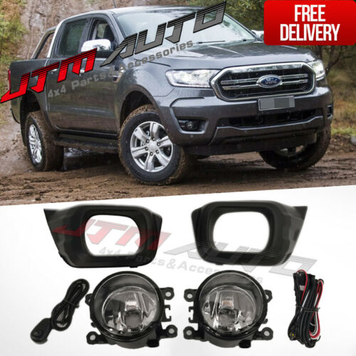 Driving/Fog Lights Lamps Complete Kit to suit Ford Ranger PX3 2018 XLS XL XLT+