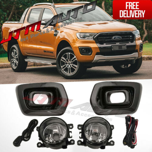 Driving/Fog Lights Lamps Complete Kit to suit Ford Ranger PX3 Wildtrak 2018+