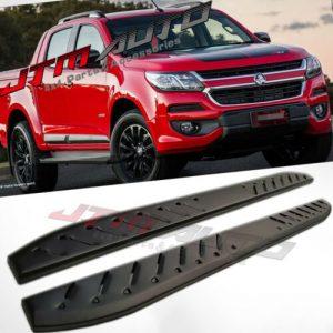 Heavy Duty Shark Bar Black Off road Side Steps to suit Holden Colorado 2012-2020