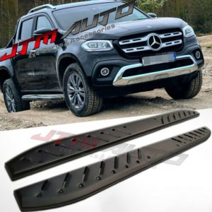 Heavy Duty Shark Bar Black Off road Side Steps to suit Mercedes Benz X-class