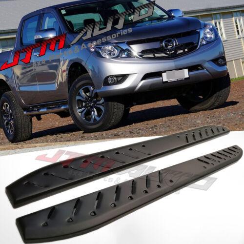 Heavy Duty Shark Bar Black Off road Side Steps for Mazda BT-50 BT50 2012-2020
