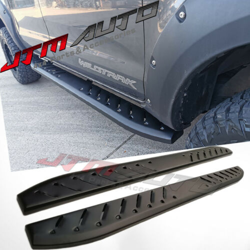 Heavy Duty Shark Bar Black Off road Side Steps to suit Ford Ranger PX 2012-2021