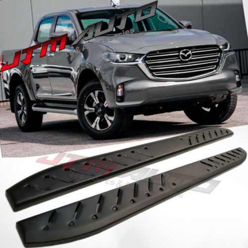Heavy Duty Shark Bar Black Off road Side Steps for Mazda BT-50 BT50 2020+ MY21
