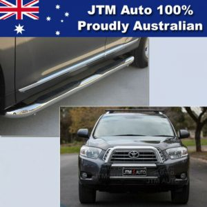 Side Steps + Nudge Bar Stainless Steel suitable for Toyota Kluger 2007-2010