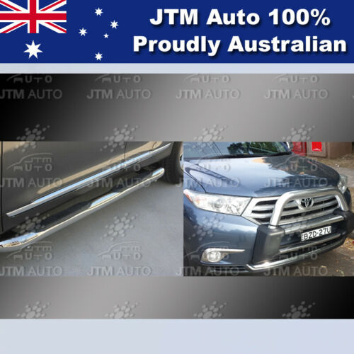 Side Steps + Nudge Bar Stainless Steel Aluminium to suit Toyota Kluger 2011-2013