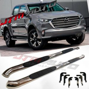 """Running Boards Side Steps 3"""" Stainless Steel to suit Mazda BT-50 BT50 2020+ MY21"""