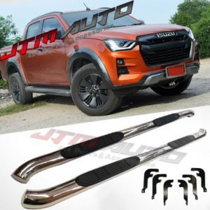 """Running Boards Side Steps 3"""" Stainless Steel to suit Isuzu Dmax D-max 2020+ MY21"""