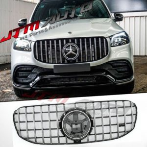 Chrome Black GT Bumper Grille Grill to sut Mercedes-Benz GLS X167 GLS450 GLS450D