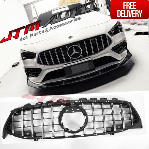 Chrome Black GT Bumper Grille Grill to suit Mercedes-Benz CLA X118 C118 & CLA35