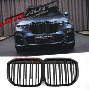 Gloss Black Double M Style Front Bumper Kidney Grill Grille for BMW X7 G07