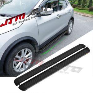 Black Aluminium Running Board Side Steps to suit Nissan Qashqai J11 2015+