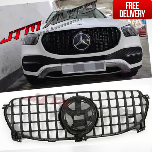 Gloss Black GT Bumper Grille Grill to suit Mercedes-Benz GLE V167 C167