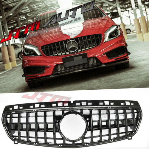 Gloss Black GT Bumper Grille Grill to suit Mercedes-Benz A-Class W176 A45 12-15