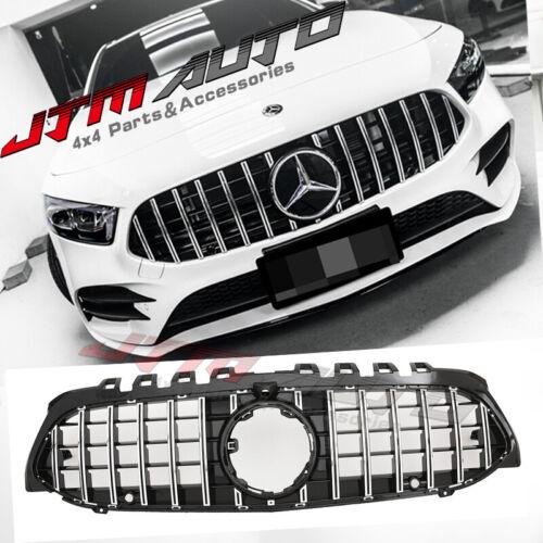 Chrome Black GT Bumper Grille Grill to suit Mercedes-Benz A-Class W177 V177