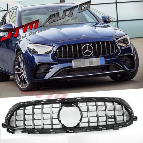 Chrome Black GT Bumper Grille Grill to suit Mercedes-Benz E-class W213 A238 C238