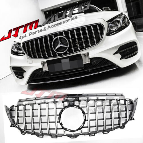 Chrome Black GT Style Grill Grille to suit Mercedes E-Class W213 C238 2016-2020
