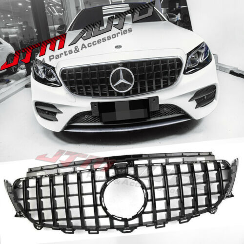 Gloss Black GT Style Grill Grille to suit Mercedes E-Class W213 C238 2016-2020