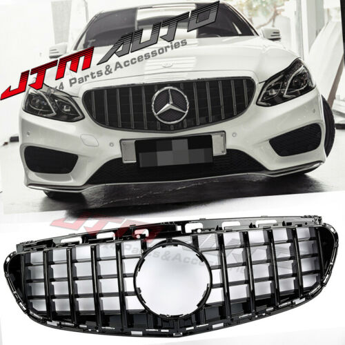 Gloss Black GT Style Grill Grille to suit Mercedes E-Class W212 2014-2016