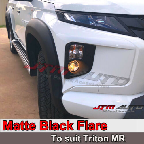 Matt Black Fender Flares Wheel Arch to suit Mitsubishi Triton MR 2018+