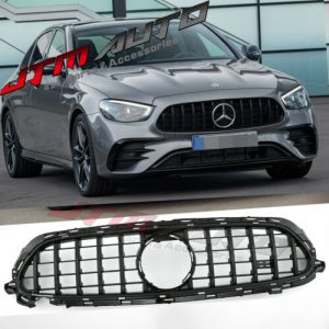 Gloss Black GT Bumper Grille Grill to suit Mercedes-Benz E-class W213 A238 C238