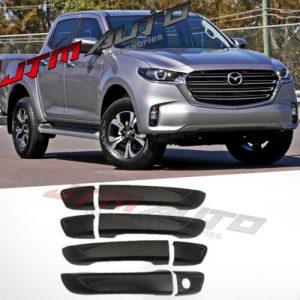 Black Door Handle Cover Trim Protector to suit Mazda BT-50 BT50 TF 2020+ MY21
