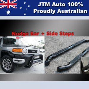 Side Steps + Nudge Bar Black Suitable For Toyota Fj Cruiser 2007-2016