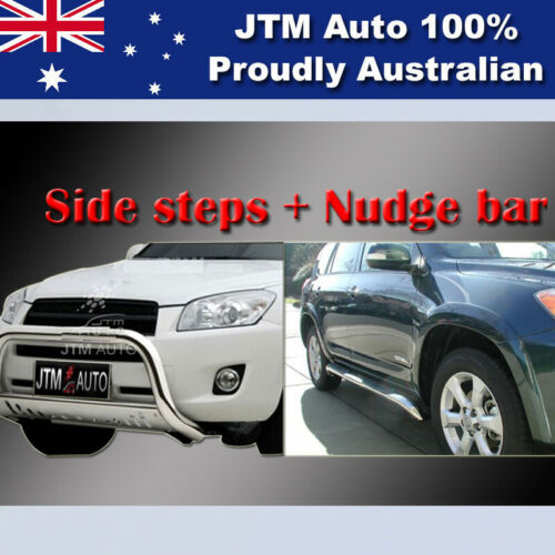 Side Steps + Nudge Bar Stainless Steel Suitable For Toyota RAV4 2006-2012