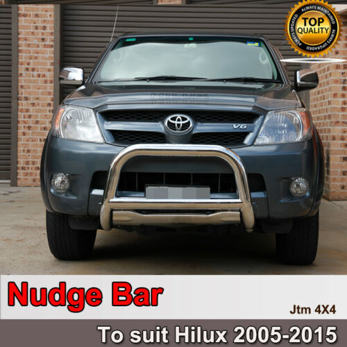 """Nudge Bar 3"""" Stainless Steel Grille Guard to suit Toyota Hilux N70 2005-2015"""