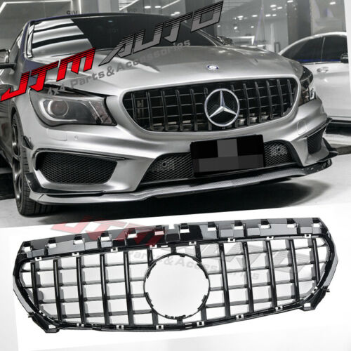Gloss Black GT Bumper Grille Grill to suit Mercedes-Benz CLA  C117 X117 & CLA45